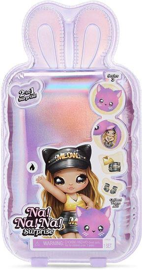 Immagine di Na! Na! Na! Surprise - 2-in-1 Bambola e Borsa con Clip - Sasha Scratch