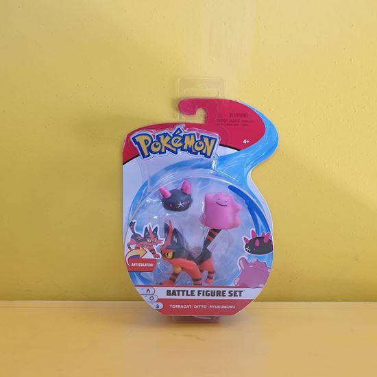 Immagine di Pokemon Battle Figure Set da 3 - Torracat - Ditto - Pyukumuku