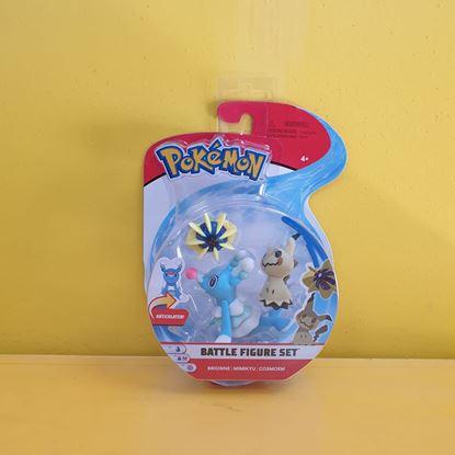 Immagine di Pokemon Battle Figure Set da 3 - Brionne - Mimikyu - Cosmoem