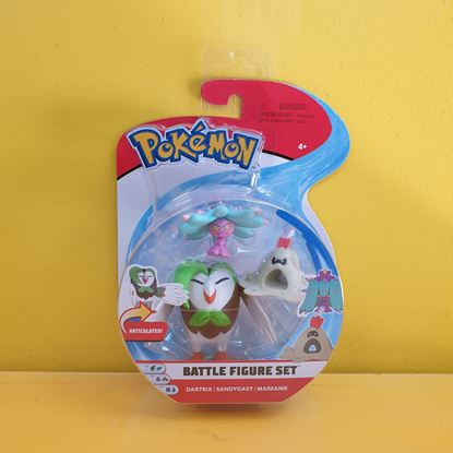 Immagine di Pokemon Battle Figure Set da 3 - Dartrix - Sandygast - Mareanie