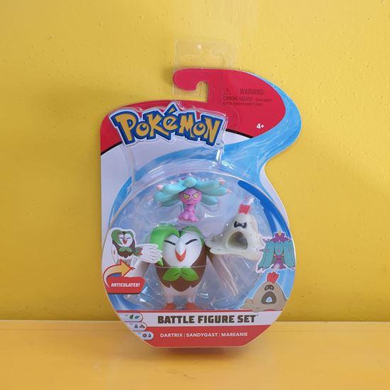 Immagine di Pokemon Battle Figure Set da 3 - Dartrix - Sandygast - Mareanie