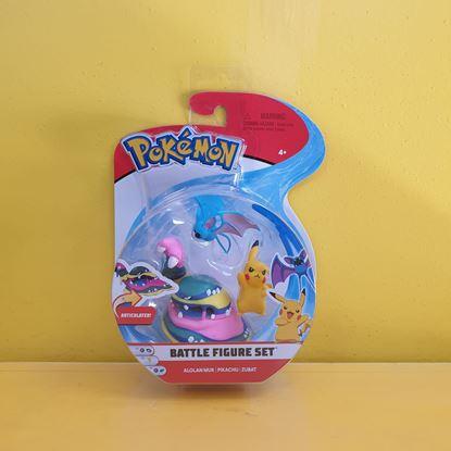 Immagine di Pokemon Battle Figure Set da 3 - Alolan Muk - Pikachu - Zubat