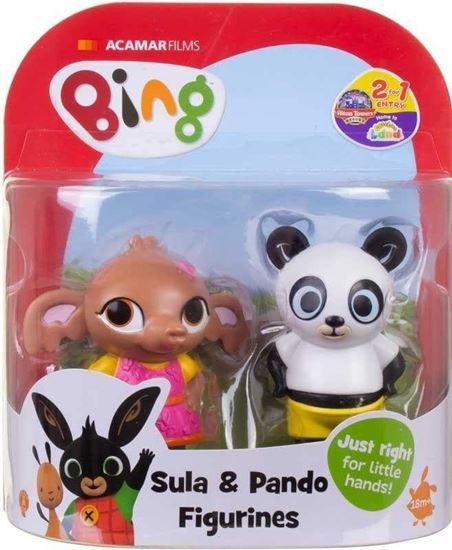 Immagine di Coppia di mini Action Figure Bing - Sula e Pando