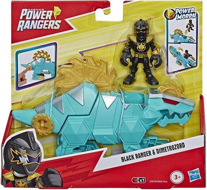 Immagine di Playskool Heroes - Power Rangers Black Ranger & Dimetrozord