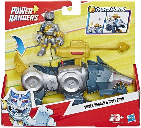 Immagine di Playskool Heroes - Power Rangers Silver Ranger & Wolf Zord