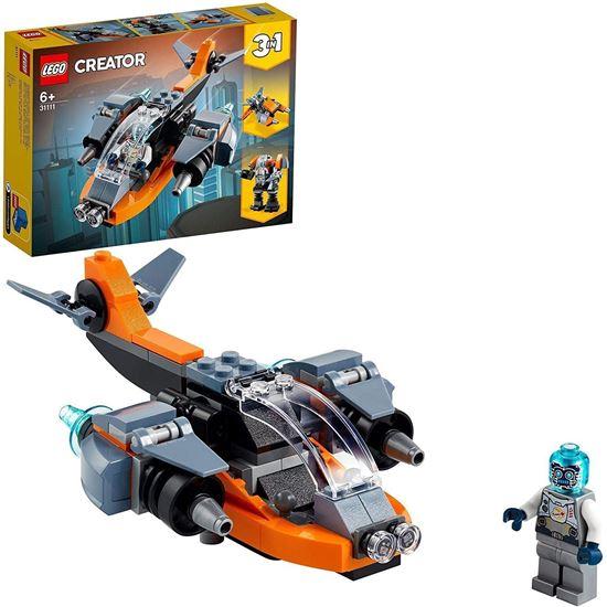 Immagine di LEGO Creator 3in1 - Cyber-Drone, Cyber-mech, Cyber-Scooter