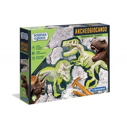 Immagine di Archeogiocando T-Rex e Triceratopo